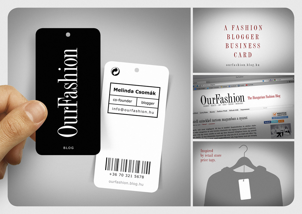 A fashion blogger business card fernando freitas portfolio for Cool fashion business cards