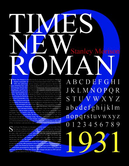 times new roman poster